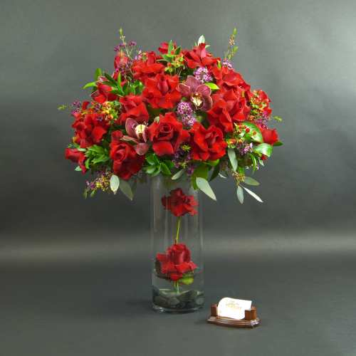 Perched Rose Arrangement
